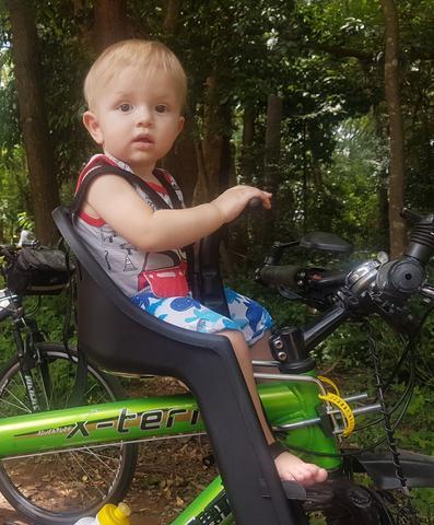 Imagem de Cadeirinha Dianteira Kalf Baby Bike - Cinza