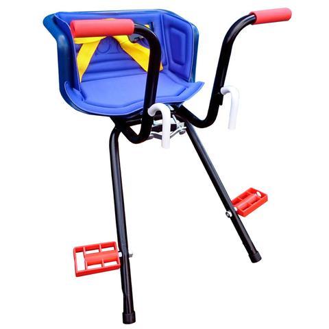 Imagem de Cadeirinha Infantil Dianteira Azul para Bicicleta Stilo Super Luxo