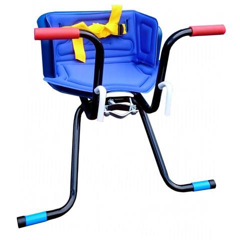 Imagem de Cadeirinha Infantil Dianteira para Bicicleta Stilo Luxo Azul
