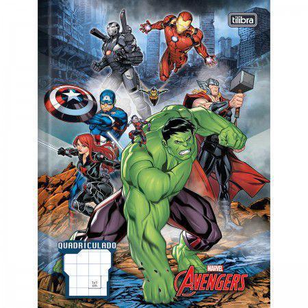 Imagem de Caderno Brochura Quadriculado Avengers Assemble 40 Folhas Tilibra