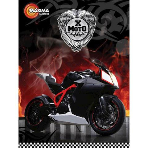 Imagem de Caderno Brochurao Capa Dura Costurado 96 Folhas X-moto 429 Maxima