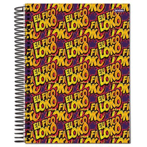 Imagem de Caderno Univ 10mat Jandaia Eu Fico Loko - Colorido