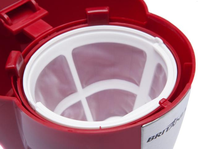 Imagem de Cafeteira Elétrica Britânia CP15 Inox Vermelha