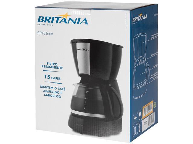 Imagem de Cafeteira Elétrica Britânia CP15 Preto e Inox