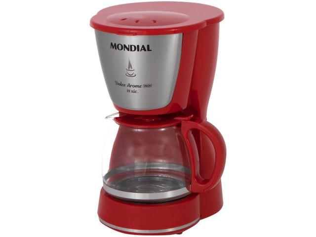 Imagem de Cafeteira Elétrica Mondial Dolce Arome Vermelha