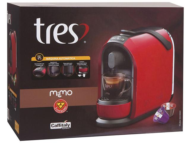 Imagem de Cafeteira Espresso TRES Mimo Preta 3 Corações