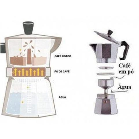 Imagem de Cafeteira Italiana Inox Luxo Serve 9 Cafés