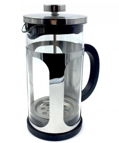 Imagem de Cafeteira Prensa Francesa Vidro Inox Cremeira café chá 600ml