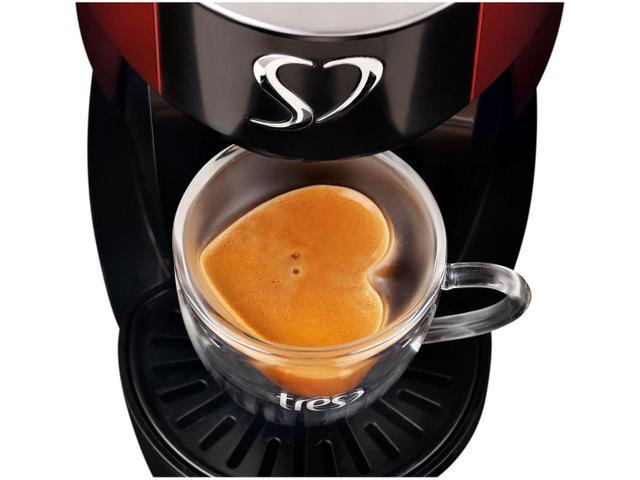 Imagem de Cafeteira TRES 3Corações Touch Vermelha para Café Espresso Automática - 110V