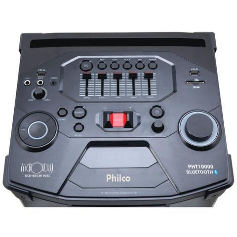 Imagem de Caixa Acústica Philco PHT10000 - 1000w Microfone Com Fio