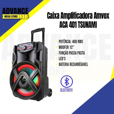 Imagem de Caixa Amplificada Amvox Aca 401 Tsunami Bluetooth 400w Bivolt