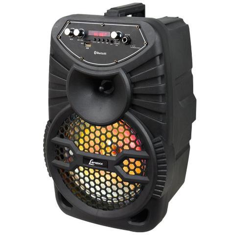 Imagem de Caixa Amplificadora Lenoxx CA 100, Entradas USB/SD/AUX e para microfone, Rádio FM, MP3, Bluetooth e 120W