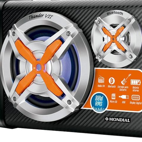 Imagem de Caixa Amplificadora Mondial MCO-07, Entrada USB e SD, Bluetooth, Rádio FM, 80W RMS