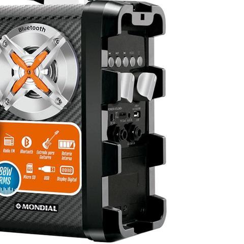 Imagem de Caixa Amplificadora Mondial MCO-07, Entrada USB e SD, Conexão sem Fio, Rádio FM, 80W RMS
