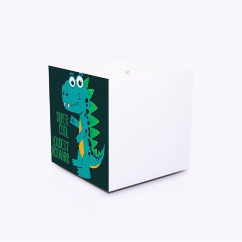 Imagem de caixa bau de brinquedos Boo Kids com ilustração Dinossauro Super Cool