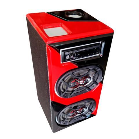 Imagem de Caixa Bob Bluetooth 6x9 Bravox Rádio Pioneer 140w Rms Bivolt