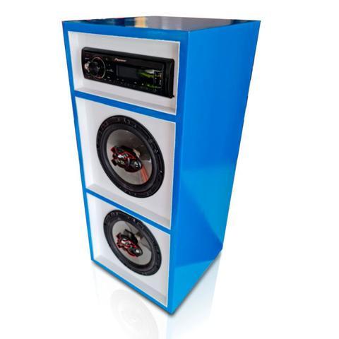 Imagem de Caixa Bob Bluetooth Bravox 6 Pol. Rádio Pioneer 100w Rms