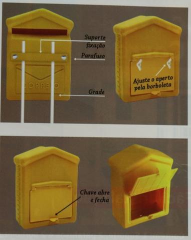 Imagem de Caixa Caixinha De Correio Pvc Para Correspondência Cartas Para Grade E Portão