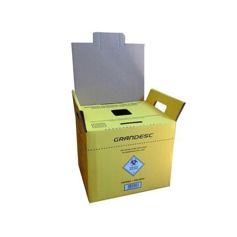 Imagem de Caixa Coletor Materiais Perfuro-Cortante Grandesc 1,5L