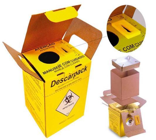 Imagem de Caixa Coletor Materiais Perfurocortante Descarpack 1,5 Litros