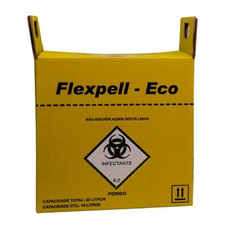 Imagem de Caixa Coletora Perfuro Cortante 20 Litros Flexpell - Eco com 10 unidades