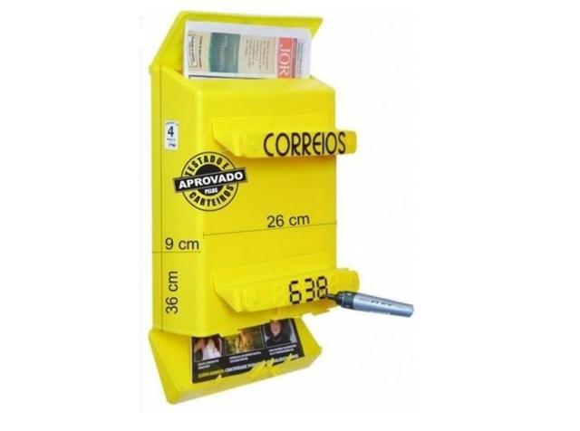 Imagem de Caixa Correios Correspondência Grade ou Portão em PVC Master Goma