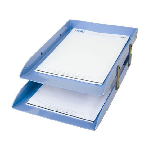 Imagem de Caixa Correspondência Plástica Dupla Articulável Dello Azul Claro