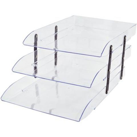 Imagem de Caixa correspondência poliestireno tripla articulável cristal Dello CX 1 UN