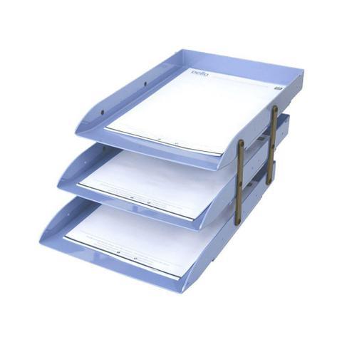 Imagem de Caixa correspondencia tripla móvel azul claro