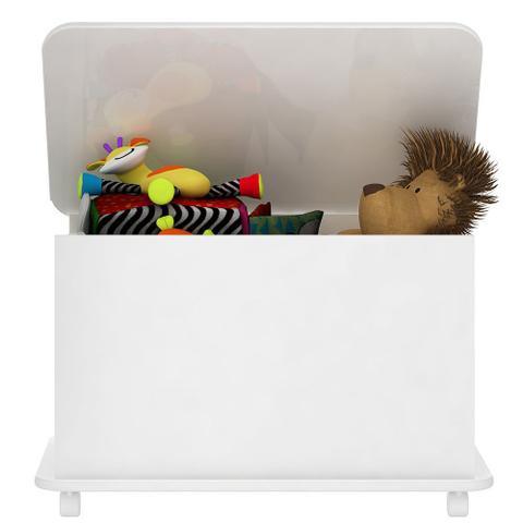 Imagem de Caixa de Brinquedos com Rodízios em Branco - Completa Móveis