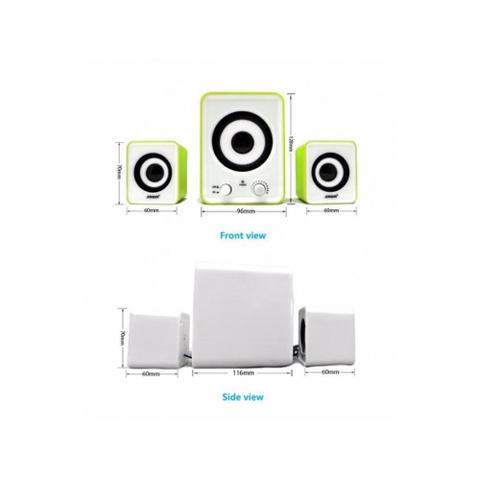 Imagem de Caixa De Som 2.1 Subwoofer Usb Infokit Vc-G200 Preto com Branco