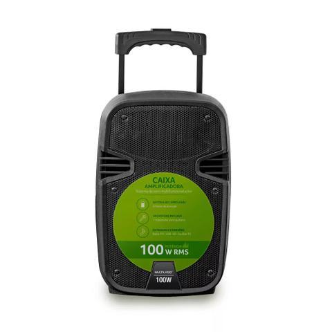 Imagem de Caixa de Som Amplificadora Multilaser Trolley SP258, 100W - Preto