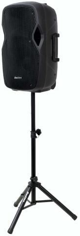 Imagem de Caixa de som ativa Boötes BDA-1515, Bluetooth, Rádio FM, Função passa pasta, saída para caixa passiva, Suporte Tripé - 420W MUS, 15