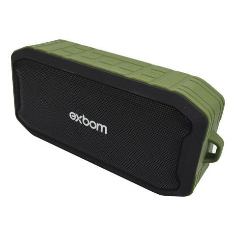 Caixa de Som Exbom Preto/verde Cs-m86bt