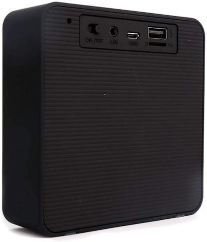 Imagem de Caixa de Som Bluetooth com Rádio Relógio Digital e Despertador 10w Wake CS100 - Verde