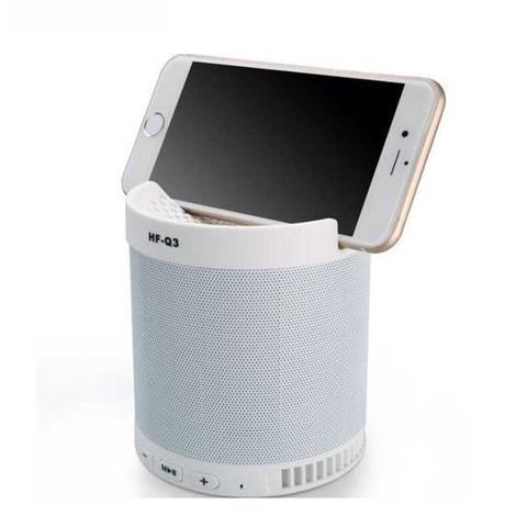 Imagem de Caixa de som bluetooth com suporte para celular 5w - HF-Q3 Branco