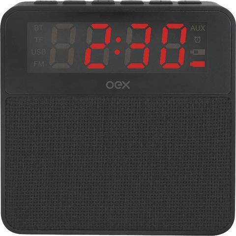 Caixa de Som Oex Clock - Preto Cs100
