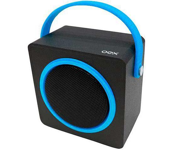 Caixa de Som Oex Azul/preto Sk404
