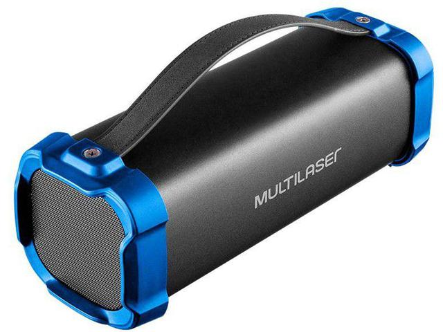 Caixa de Som Multilaser Bazooka - Azul/preto Sp337