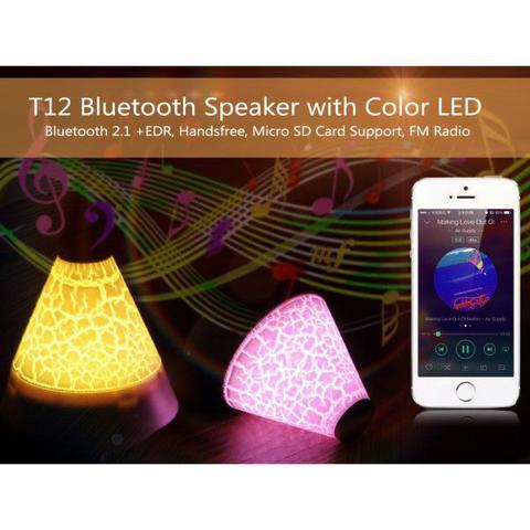 Imagem de Caixa De Som Bluetooth Portátil Led Micro Sd Até 32gb Rádio Fm Bluetooth 2.1+ EDR Atende e Faz Chamadas Via Smartphone