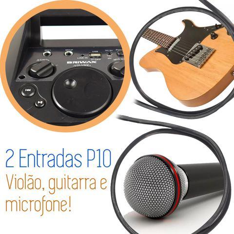 Imagem de Caixa De Som Bluetooth Portátil Torre Mp3 Usb Rádio Pendrive Briwax - FBX 107 Dourada