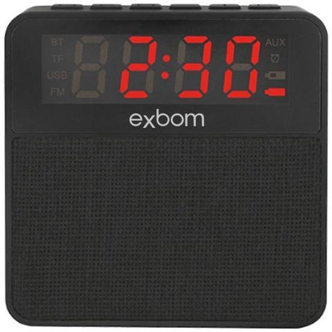 Imagem de Caixa de som bluetooth relogio despertador exbom cs-mt3bt