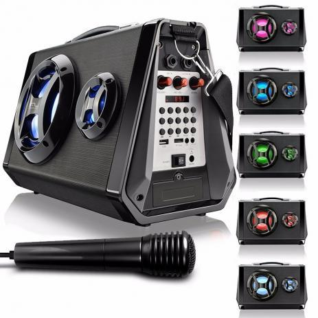 Imagem de Caixa De Som Boombox SP217 Bluetooth/usb/sd/fm/aux 80w Rms Mltilaser