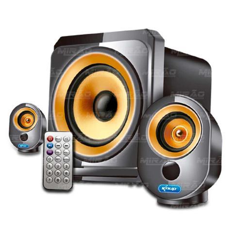Imagem de Caixa de Som com Sub Rádio Bluetooth - KP-6021BH