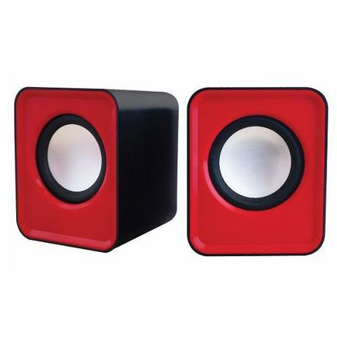 Imagem de Caixa De Som Cube Sp103 5w Usb Cabo 1m Vermelho