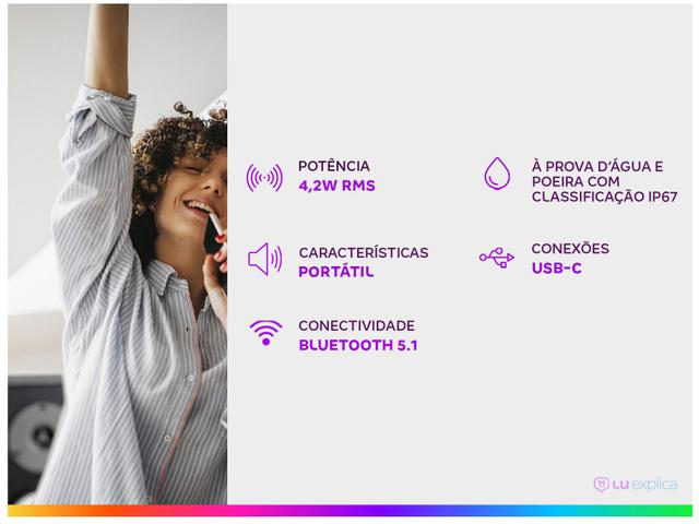 Imagem de Caixa de Som JBL Go 3 Bluetooth Portátil