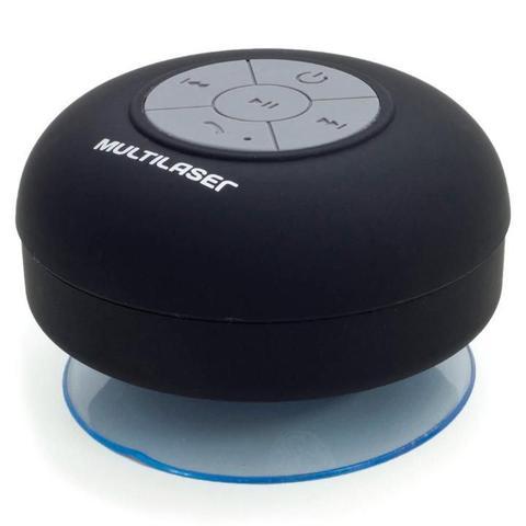 Imagem de Caixa de Som Multilaser Bluetooth Shower Speaker a Prova DÁgua 8 Watts RMS - SP225