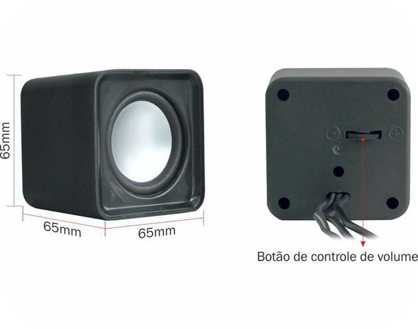Imagem de Caixa de som pc e notebook multimídia mini speaker cube