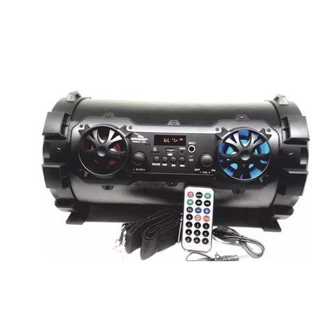 Imagem de Caixa de som portatil bluetooth amplificada 6 em 1 usb fm mp3 sd controle remoto entrada microfone e