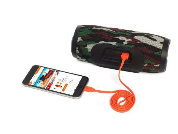 Imagem de Caixa de Som portátil com Bluetooth JBL - Charge 3 - Cor Squad